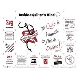 Inside a Quilter's Mind Fabric Panel - 18in x 20in