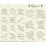Rejoice Fabric Panel (Natural) - 18in x 20in