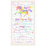 Timeless Treasures, Unicorn Life Lessons Fabric Panel