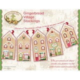 Gingerbread Village Stockings Pattern, Crabapple Hill Studio