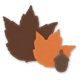 Crafter's Edge, Fall Maple Leaf 3 Piece Die Set