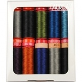Aurifil, 10 Spool, Dark Mix Thread Collection