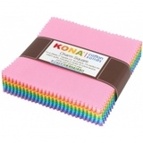 Robert Kaufman, Kona Solids 5in Fabric Squares (85 pcs)
