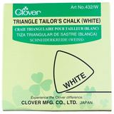 Clover Triangle Tailor's Chalk, White