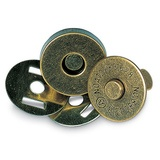 "Magnetic Snap Closures 3/4"" Antique Gold, Clover"