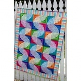 Wiggly Worms Log Cabin Pattern
