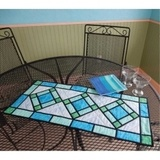 Stained Glass Table Runner Pattern - Cut Loose Press