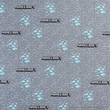 Minecraft, Diamond Mine Logo Fabric, Gray