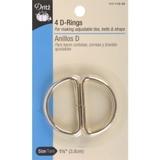 Dritz D-Rings Gilt, Size: 1-1/2in, 4pk