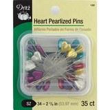 Heart Pearlized Pins - 35pk