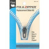 Fix-A-Zipper (5mm), Coil, Gunmetal