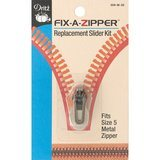 Fix-A-Zipper (5mm), Metal, Antique Brass