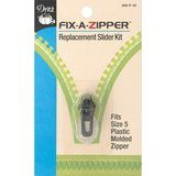 Fix-A-Zipper (5mm), Plastic, Gunmetal