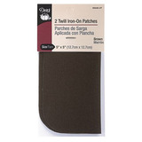 Twill Iron-On Patch Brown (2ct), Dritz #D55240-2T