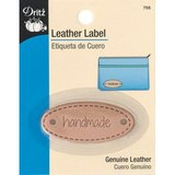"Leather Label, Oval, ""Handmade"""