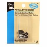 No-Sew Hook and Eye Closures (4pk), #D86