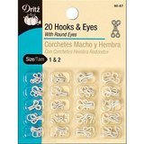 Hook and Eye Closures (20pk) #D90-67