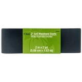 Soft Waistband Elastic, (Black) 2in x 2yds, Dritz #D9591-BLK