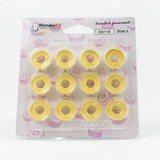 Wonderfil, DecoBob Prewound L Style Bobbins (12-pk) - Soft Yellow