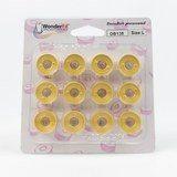 Wonderfil, DecoBob Prewound L Style Bobbins (12-pk) - Soft Gold