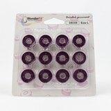 Wonderfil, DecoBob Prewound L Style Bobbins (12-pk) - Soft Purple