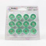 Wonderfil, DecoBob Prewound L Style Bobbins (12-pk) - Mint Green