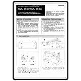 Instruction Manual, Juki DDL-5550