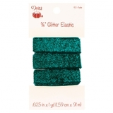 """Glitter Elastic 5/8"""" x 1 yd , Dritz (9 Colors Available)"""