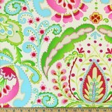 Dena Designs, Kumari Garden, Teja, Pink Fabric