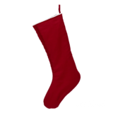 Embroider Buddy Chic Christmas Stocking, Scarlet Red