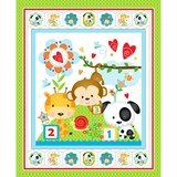 Puppy & Pals Character Flannel Fabric Panel