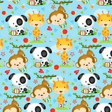 Puppy & Pals Character Flannel Fabric - Blue