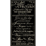 Timeless Treasures, The Lord's Prayer Fabric Panel - Black