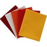 Supreme Solids, Fire Fat Quarter Fabric Bundle (5pk)