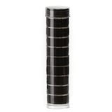 "Bobbins Filled Black, ""L"" Clear Glide Poly Bobbin Tube 10pk #FT13175"