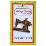 Vintage Sewing Machine Enamel Pin