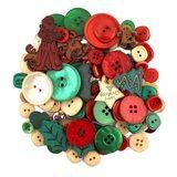 Button Grab Bag - Noel Christmas - 6oz