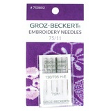 Embroidery Needles, Groz-Beckert, 130/705H (5pk)