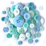 Buttons Galore, Variety Button Hand Bag Tote - Frost