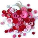Buttons Galore, Variety Button Hand Bag Tote - Love