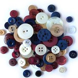 Buttons Galore, Variety Button Hand Bag Tote - Patriot