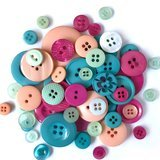 Buttons Galore, Variety Button Hand Bag Tote - Vacation