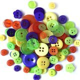 Buttons Galore, Variety Button Hand Bag Tote - Scary