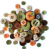 Buttons Galore, Variety Button Hand Bag Tote - Cornucopia