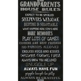 Timeless Treasures, Grandparent's House Rules Fabric Panel