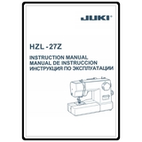 Instruction Manual, Juki HZL-27Z