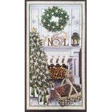 Timeless Treasures, Christmas Mantel Fabric Panel