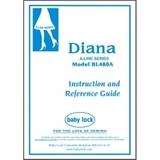 Instruction Manual, Babylock BL480A Diana