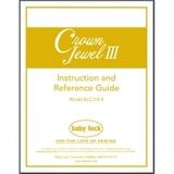 Instruction Manual, Babylock BLCJ18-3 Crown Jewel III