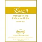 Instruction Manual, Babylock BLTR16-2 Tiara II